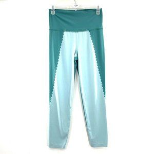 Aerie L Scallop High Waisted 7/8 Leggings Teal
